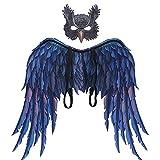 Proumhang Conjunto de Disfraces de alas Disfraz de Cosplay para Adolescentes Adultos Alas de búho y...