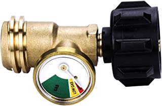Camplux Propane Tank Gauge/Leak Detector Gas Pressure Meter Universal ACME/QCC1/Type1 Connection for RV Camper, Cylinder, ...