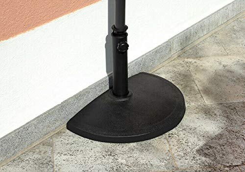 Gruppo Maruccia Base Per Ombrellone Semicircolare Basamento Per Ombrellone Da Parete A Mezzaluna