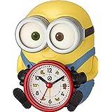 リズム(RHYTHM) ミニオン/ボブ 置き時計 目覚まし時計 音声 アラーム イエロー 15.2x12.1x12.3cm 4REA30ME33