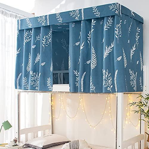 VVemerk - Cortina de cama de dormitorio estampada con cuerda y cierre de tela para sombreado de cama, dormitorio estudiante hogar litera tienda de campaña para cama de 4/4,5 pulgadas