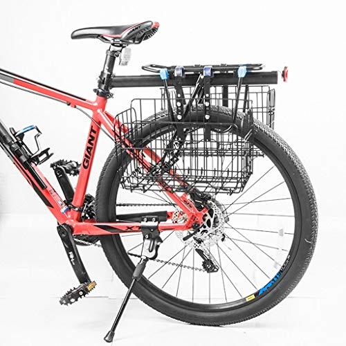 Fietsmand stuur fietsen dragen ijzeren behuizing zak fiets bagage tas vouwen opknoping huisdier mand, Zwart