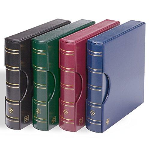 Leuchtturm Ringbinder Excellent zum Briefmarken sammeln, im Classic Design inkl.Schutzkassette, grün