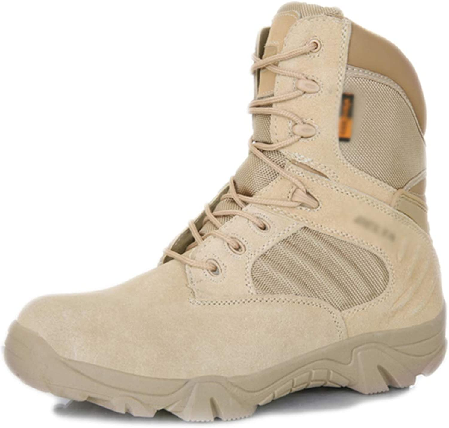 Mens High Top Delta Military Boots Special Forces Police Army Combat shoes Outdoor Desert Hiking Mountaineering Leather Lace Ups Footwear
