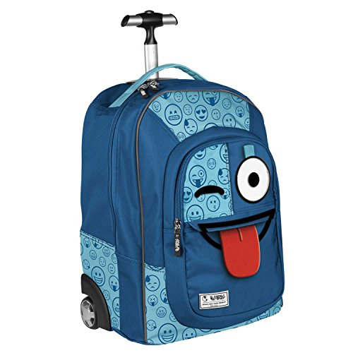 Zaino Trolley Blu Sprint Emoticons Smile