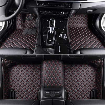 SIZHINIAN benutzerdefinierte Auto-Fußmatten für Audi A3 Sportback A5 Sportback tt MK1 A1 A2 A3 A4 A5 A6 A7 A8 Q3 Q5 Q7 S4 S5 S8 RS Automatten, schwarz rote Linie, schwarz-rot-line