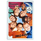 12 Pack 4 x 6 Magnetic Picture Frames Holds 4 x 6 Inches Photo for Refrigerator by Freeze-A-Frame Made in the USA