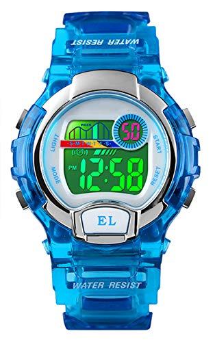 Orologi digitali per ragazze ragazzi, 5ATM impermeabile orologio sportivo per bambini con allarme/multicolore LED luminoso,...