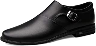 [HAIBON] 革靴 紳士靴 ビジネスシューズ メンズ オフィス シューズ 本革 メッシュ レザー ウォーキング 通気性抜群 快適 軽量 職場用 牛革 防滑