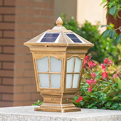 WRMING LED Solare Lampade da Giardino per Esterno, Retrò Lampione da Sentieri Dimmerabile, con Telecomando, IP65 Alluminio Lampioncino da Esterno per Vialetti Cortile,H43cm,2200mAh,Bronzo