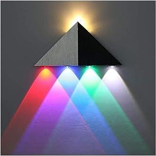 Lightess Moderne 5W LED Wandleuchte Innen Sconce Up und Down Wandleuchten Spot Light Dreieck Perfekt für Wohnzimmerleuchte...