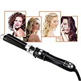 Curling Iron Classic Wave Wand Ceramic Hair Curler Shiny Salon Style Curls Portable