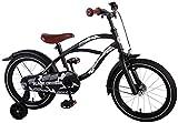 L&E 16 Zoll Fahrrad Qualitäts Kinderfahrrad Schwarz matt Jungen Black Cruiser 21602C