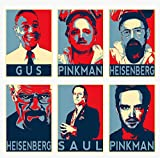 Wandkunst Breaking Bad Movie Characters Soul Pinkman Gus