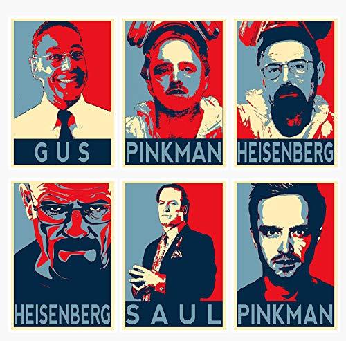 Juego de 6 pósteres de película de Breaking Bad con personajes de Soul Pinkman...