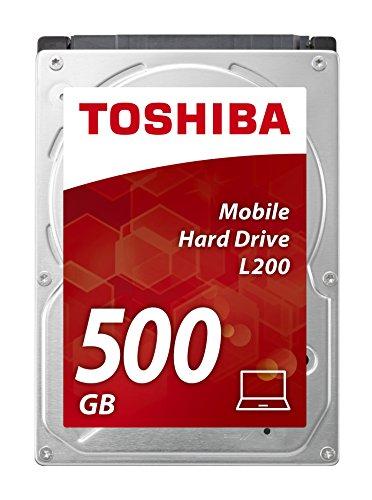 Toshiba L200 500 GB Interne Festplatte, (6,4 cm (2,5 Zoll), SATA) schwarz