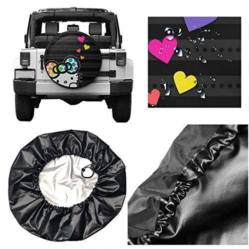 Spare Tire Cover Colorful Hello Kitty Universal Waterproof Dust-Proof Wheel Covers