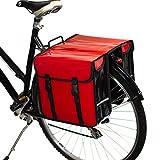 BikyBag Imperméable - Double Sacoche de vélo Porte-Bagage (Rouge)