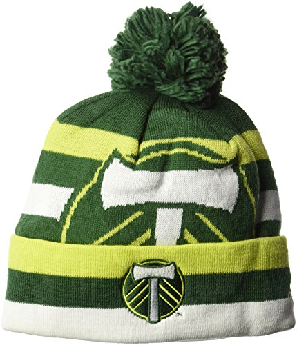 NBA Boston Celtics Men's Standout Cuffed Knit Hat with Pom, Green, One Size