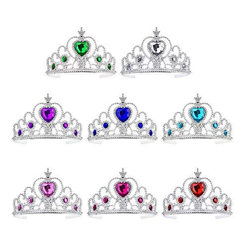 Shuny 8 Stück Prinzessin Tiara Set, Mädchen verkleiden Sich Party-Zubehör, Kinder Prinzessin Tiara Crown Set Mädchen verkleiden Party Zubehör