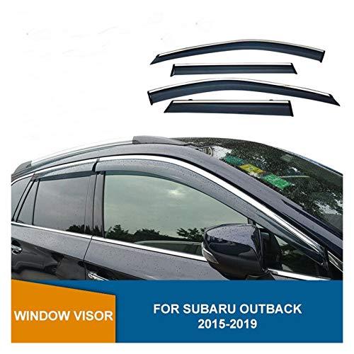 QUXING Derivabrisas para Subaru Outback 2015 2016 2017 2018 2019 Deflector De Ventana Lateral Smoke Sun Rain Deflector De Ventana Visor Derivabrisas Deflectores