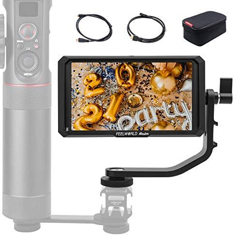 Feelworld Master MA5 Monitor da Campo 5'', Feelworld MA5 Monitor Esterno Reflex Camera Field Monitor IPS 4K Full HD 1920x1080 Pixels, Monitor della Fotocamera, Monitor DSLR per Stabilizzatore Gimbal
