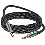 MOSWAG 3.28FT/1Meter 3.5mm Audio Cable Male to Male Audio Cable 4 Pole Stereo Aux Cable Auxiliary Cable Aux Cord for Headphones,PS4,Smartphone,Tablets,Headset,PC,Laptop and More