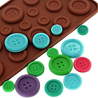 Cake Molds - Button Shape Chocolate Moulds Cake Cookie Silicone Diy Fondant Moldes De Silicona Para