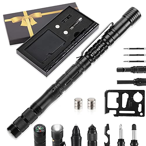 Gifts for Men Dad 24-in-1 Tactical Pen Unique Birthday Gift Idea for...