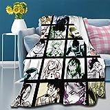 My Hero Academia Manga Design – Manta de color – Manta de franela súper suave y cálida, cómoda y ligera colcha de lujo para sofá de 203 x 152 cm