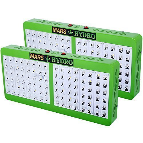 [Pack of 2]MarsHydro Reflector 96 LED Grow Light Full Spectrum True 203W±5{093f9e149c13cb75c09d797e486c98c27e7bc94f25fc96a9b681e4cca0307149} for Indoor Greenhouse Garden Plants Growing Veg & Bloom Switchable 2-IR LEDs