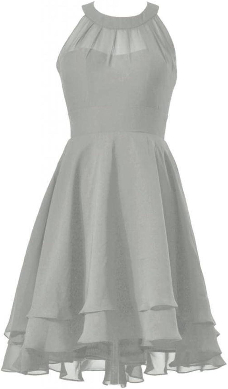 DaisyFormals® HighLow Prom Dress Short Halter Bridesmaid Dress(CST2225)