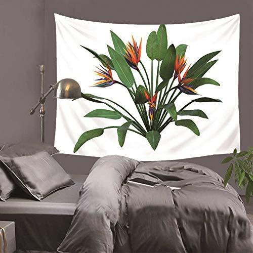 ZWBBO tapijt, bedrukt, tropische bloemen, decoratieve wandtapijt, voor thuis, op de bank, deco, beddengoed, België (150 x 200 cm)