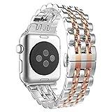 Aottom Compatible con Apple Watch SE 6 5 4 3 2 1, Correa 38mm 40mm, Acero Inoxidable Correas del Reloj Pulsera de Repuesto para Hombre Mujer Correa Apple Watch 6 para Apple Watch Series SE/6/5/4/3/2/1