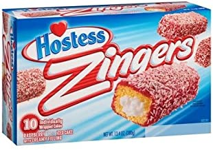 product image for Hostess Zingers Raspberry-Iced Cake with Creme Filling, 10 Per Box (Pack of 2)