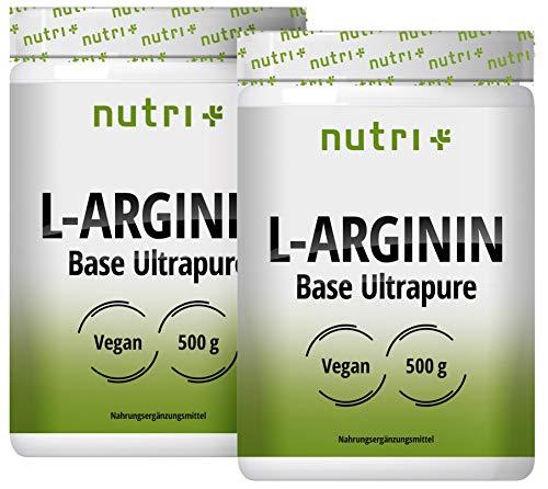 L-ARGININ BASE PULVER 1kg - hochdosiert - pflanzlich durch Fermentation - reines L-Arginine Powder 1000g - Vegan - Neutral - ohne Zusatz - Premiumqualität