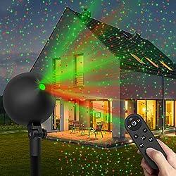professional Christmas Light Projector Laser Light Christmas Spotlight Projector Waterproof Outdoor Landscape…