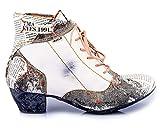 TMA 7616 Damen Stiefeletten Leder weiß - EUR 41