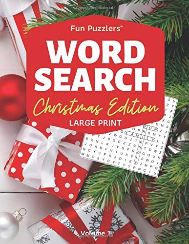 Word Search: Christmas Edition Volume 1: 8.5' x 11' Large Print (Fun Puzzlers Large Print Word Search Books)