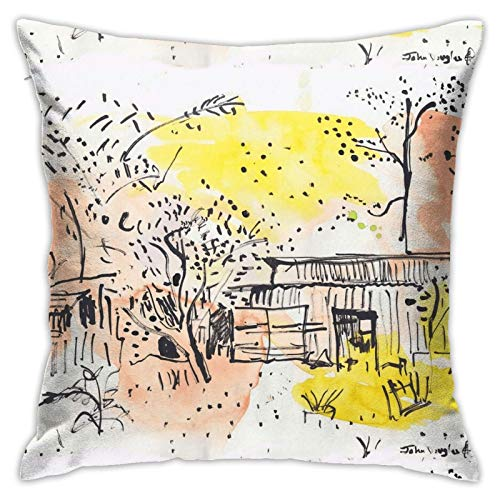 Houtiff The Old Shed Out The Back Tapestry Throw Pillowcase, Car Cushion,Sofa, Pillowcase, Interior Decoration (45cmx45cm)