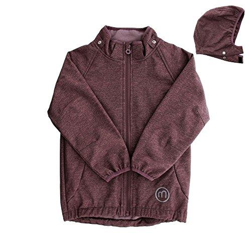 MINYMO Kinder Mädchen Softshell-Jacke, Alter: ab 9 Jahren, Größe: 134, Farbe: Lila (Black Plum), 160311