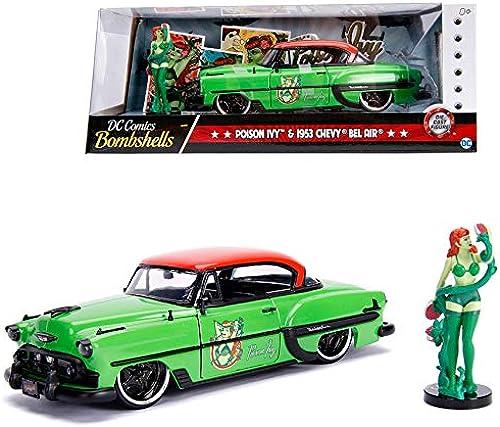 orden ahora disfrutar de gran descuento Jada 1 24 Die-Cast Hollywood Rides Poison Ivy & 1953 1953 1953 Chevy Bel Air Car Model Collection  orden ahora con gran descuento y entrega gratuita