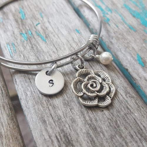 Ranking TOP6 Flower Adjustable Bangle Bracelet- choice Charm Max 76% OFF with your