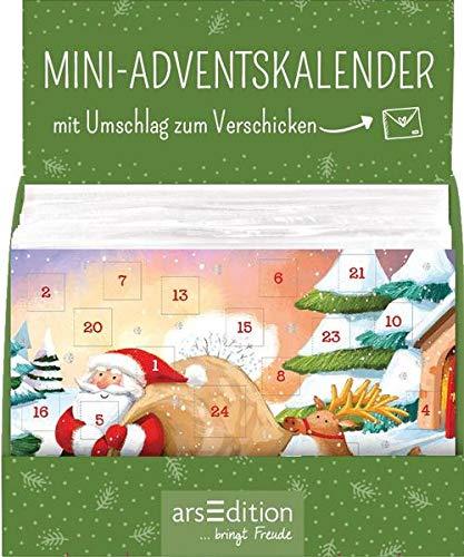 Display Adventskalender zum Verschicken für Kinder: Mit 4 x 9 Ex.