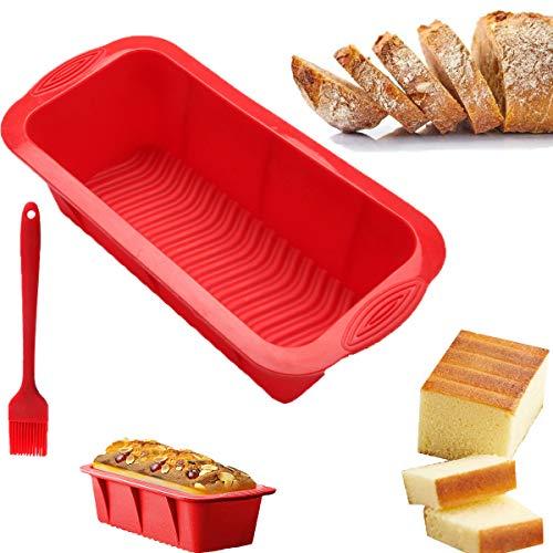Cepillo de Silicona|Molde de Pan Rectangular|Molde de Pan de Silicona|Película Para Hornear Pan|Cepillo de Silicona Para Barbacoa|Adecuado Para Hornear Pasteles y Tostadas