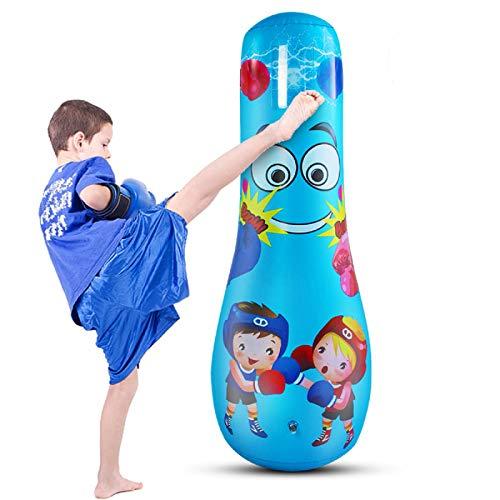 Rehomy aufblasbarer Boxsack für Erwachsene, freistehende Box-Zieltasche, Fitness Punch Tower Speed Bag für Bewegung und Stressabbau (für Kinder)
