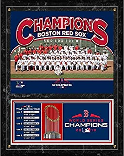 Boston Red Sox 2018 World Series Team Photo Plaque (Size: 12