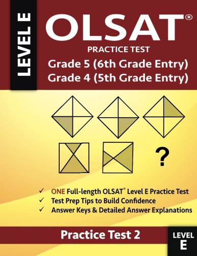 OLSAT Practice Test Grade 5 (6th Grade Entry) & Grade 4 (5th...