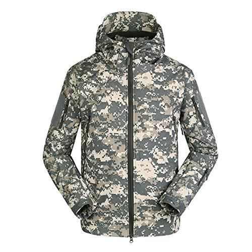 KALUNBS Cappotti con Cappuccio Softshell UomoAbbigliamento tattico Militare Caldo Camouflage Tattico Impermeabile Impermeabile Cappotto di Abbigliamento
