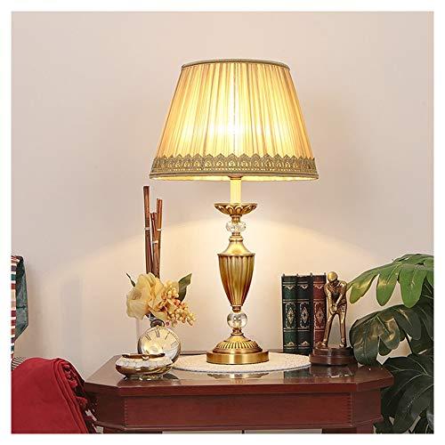 UQY Lámpara de pie, De pie de la lámpara de pie alto poste de la luz de pie de la lámpara de estudio de estilo europeo de cobre completo lámpara de mesa regulable retro creativo- lámpara de mesa-B